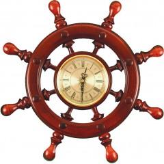 ШЧСТ-С07 Штурвал сувенирный, часы (8 ручек)