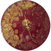 """Часы """"Цветочный Букет"""" красные с золотом"""