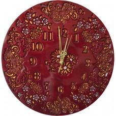 """Часы """"Цветочный Букет"""" красные"""