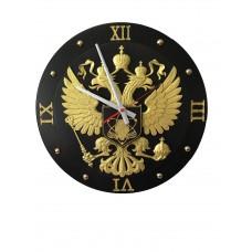 Часы фрезерованные Герб  (нанесение любого изображения) ПОД ЗАКАЗ