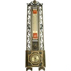 Метеостанция  барометр термометр из металла